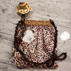 Capelli leopard cheetah bag NWT